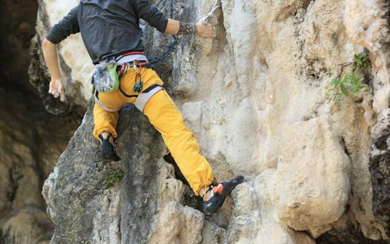 clothing and equipment for climbing